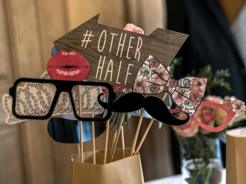 Retro Party set Glasses, hats, lips, mustaches, masks design photo booth party wedding funny pictures